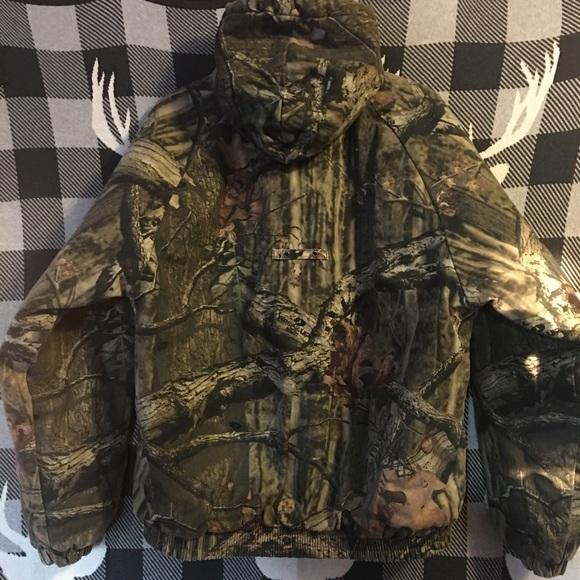 ca58beb040a78 Russell Outdoors Hooded Camo Insulated Coat Mens M.  M_5a611fcc2c705da2b2366a7e